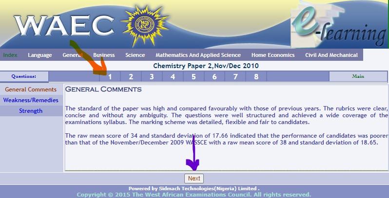 WAEC Chemistry Past Question