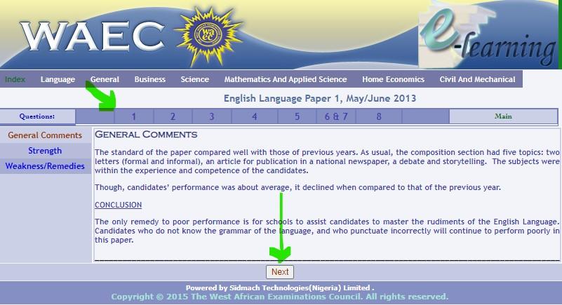 WAEC English past question