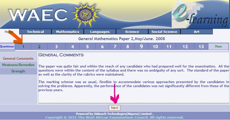 WAEC Maths Past Question