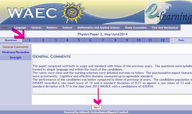 WAEC Physics Past Question